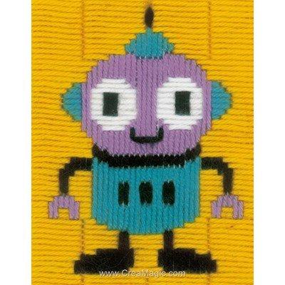 Petit robot canevas point lance - Vervaco