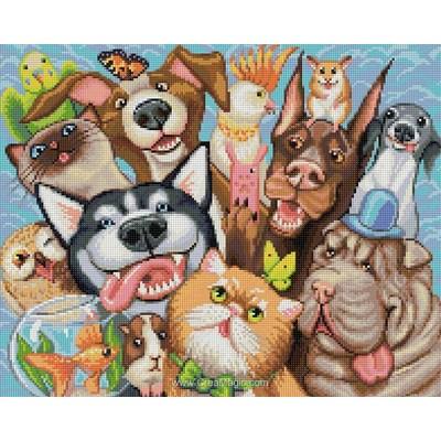 Broderie diamant animal selfie de Diamond Painting