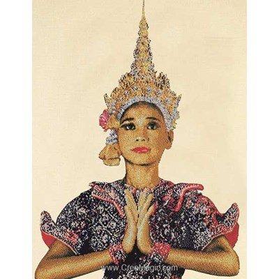 Femme thaïlandaise sur lin kit Thea Gouverneur à broder