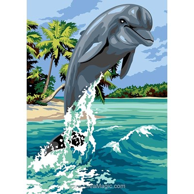 Canevas SEG bond de dauphin près des îles