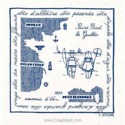 Broderie point de croix Le Bonheur Des Dames saint cast 1999