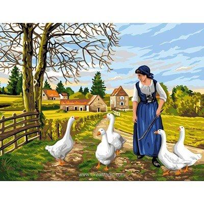 La gardienne d'oies canevas - Rafael Angelot