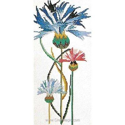 Cornflower sur lin kit broderie de Thea Gouverneur au point de croix