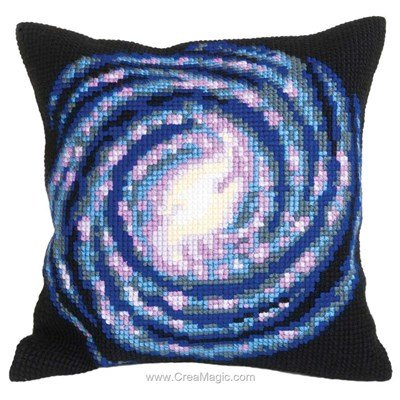 Kit coussin Collection d'art vortex au point de croix