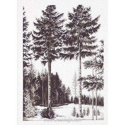 Kit au point de croix compté Permin graphique d'arbres