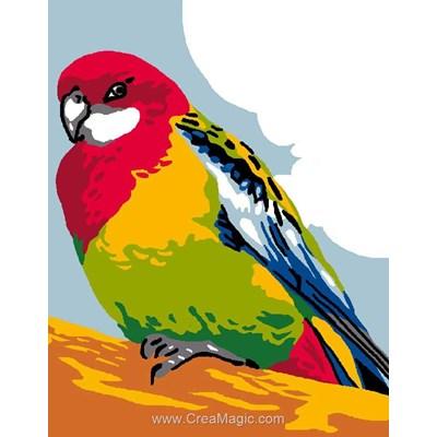 Kit canevas pour débutant Luc Création oiseau exotique