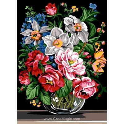 Canevas SEG bouquet de fleurs royal
