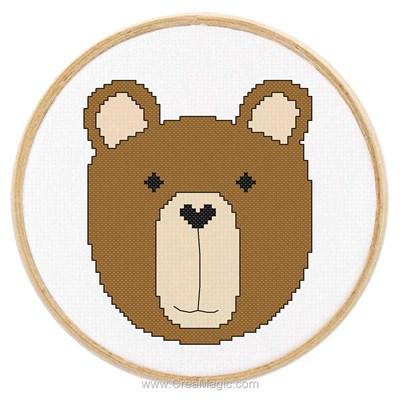 Kit Princesse à broder tableautin petit ours