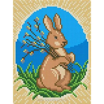 Kit broderie diamant easter rabbit de Diamond Painting