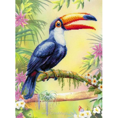Le toucan kit broderie point de croix - RIOLIS