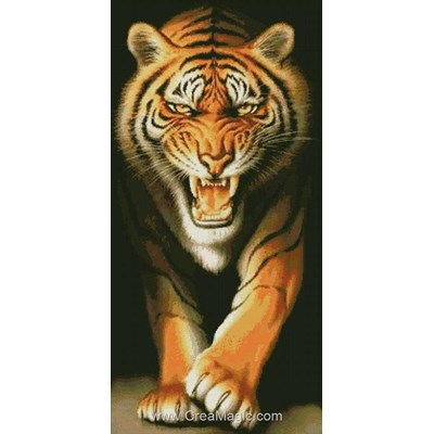 Kit broderie diamant fureur du tigre de Diamond Painting