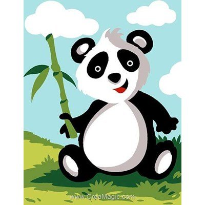 Panda et bambou kit canevas Margot pour débutant