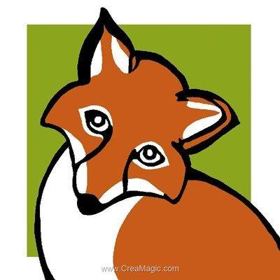 Kit canevas pour débutant Luc Création renard