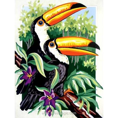 Duo de toucans canevas de Collection d'art
