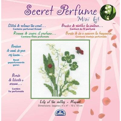 Fleur muguet mini kit de point de croix - DMC