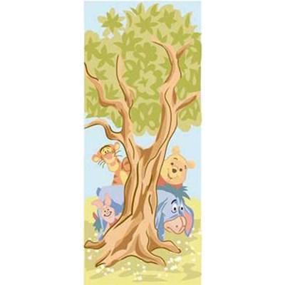 Canevas DMC les amis de winnie caché derrière l'arbre - disney