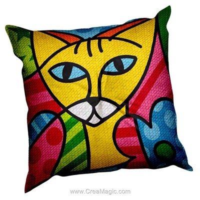 Coussin color cats de SEG au demi point