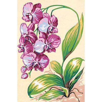 Ochidées violettes canevas - SEG