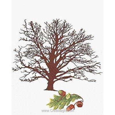Oak tree sur aida kit Thea Gouverneur à broder