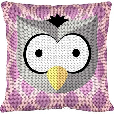 Kit coussin hibou coquin de Margot au demi point
