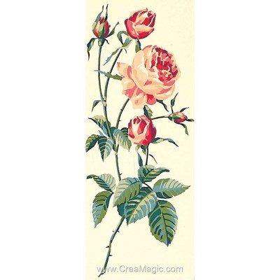 Gerbe de roses rouges canevas - SEG