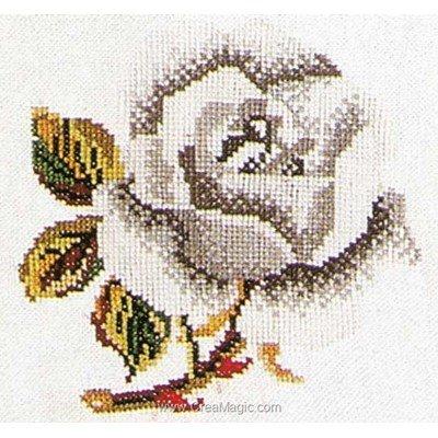 Point de croix compté rose white sur aida de Thea Gouverneur