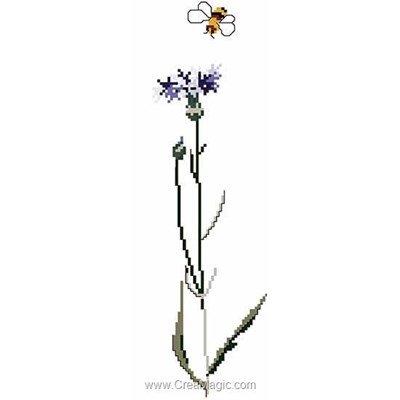 Kit tableau point de croix Thea Gouverneur cornflower sur aida