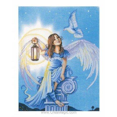 Modèle broderie au point de croix l'ange et la colombe - Lanarte