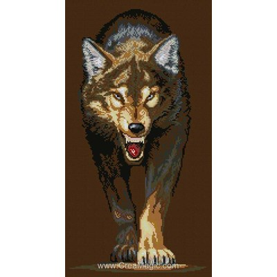 Kit broderie diamant wolf de Diamond Painting