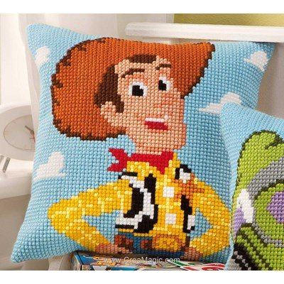 Coussin au point de croix disney toy story woody - Vervaco