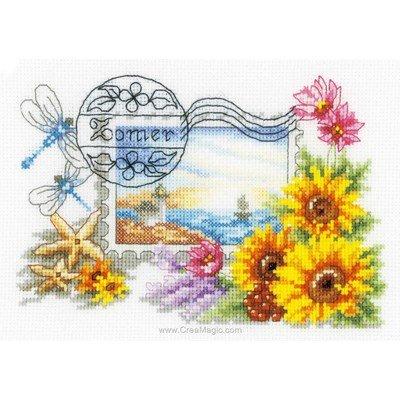 Broderie timbre eté - Vervaco