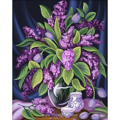Broderie diamant Diamond Painting lilac