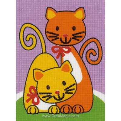 Kit canevas les chats rigolos - Vervaco