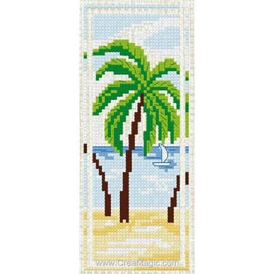 Marque page palmier à broder Luc Création