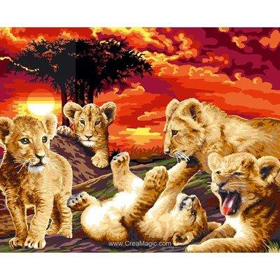 Mimo Verde canevas jeux de lionceaux