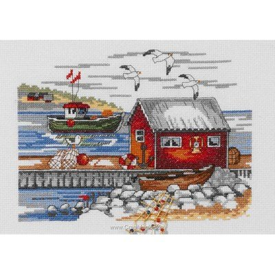 Swedish skerries kit tableau Permin point de croix