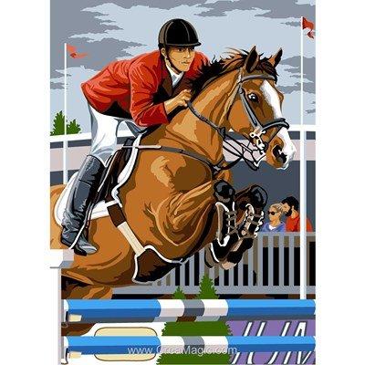 Canevas SEG equitation - le saut
