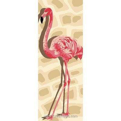 Luc Création canevas flamant rose