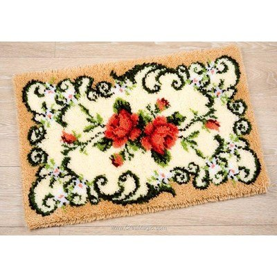 Kit tapis point noue avec roses de Vervaco