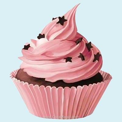 Broderie diamant sweet muffin de Wizardi