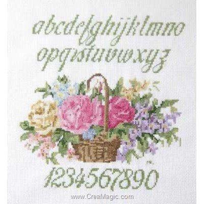 Abc panier fleuri kit à broder point de croix - Anagram