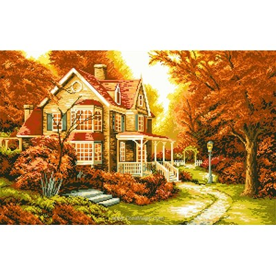 Broderie diamant golden autumn de Diamond Painting