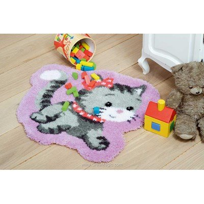 Tapis point noue Vervaco tendresse de petit chaton