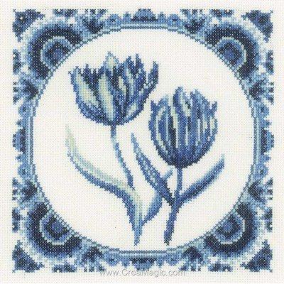 Kit Lanarte à broder tulipe monochrome