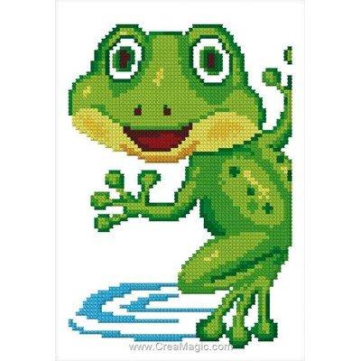 Mini kit Luc Création à broder petite grenouille