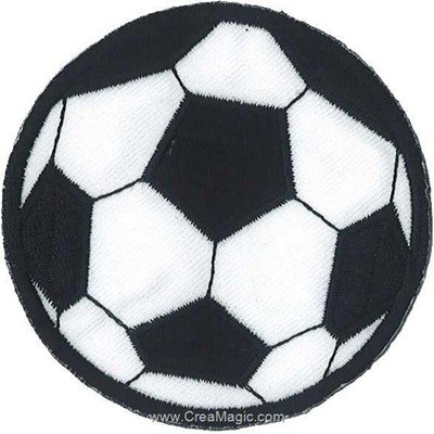 Ecusson brodé thermocollant football ballon grand format - MLWD