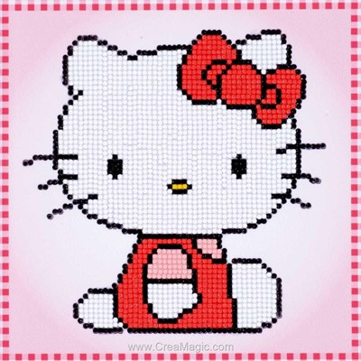 Kit broderie diamant Vervaco hello kitty
