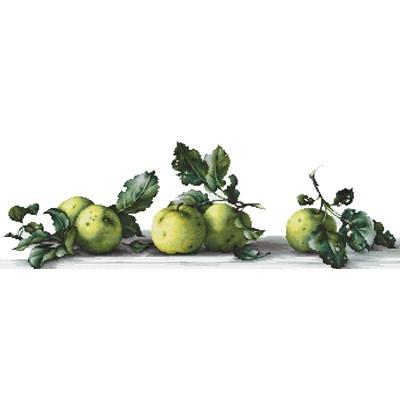 Point de croix de Luca-S à broder pommes vertes