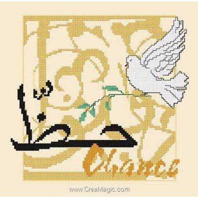 Broderie d'Aux 4 Points Du Monde au point de croix bénédiction chance