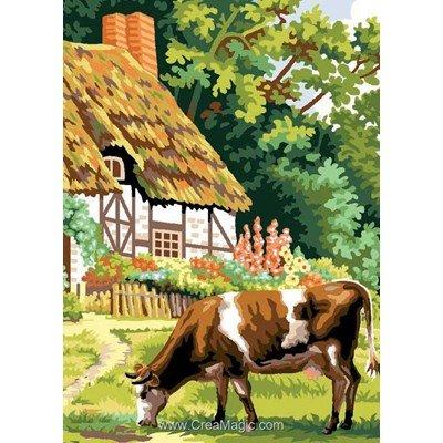 Canevas Luc Création la vache et chaumière